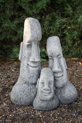 KEI12 Large Family Easter Island Head