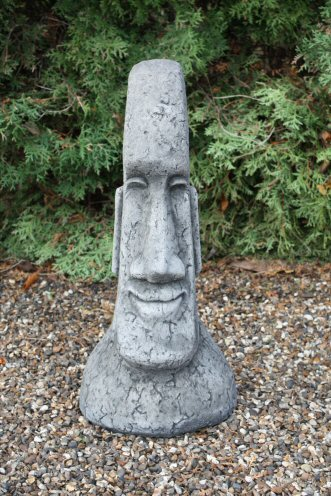 KEI15 Large Plain Male Easter Island Head
